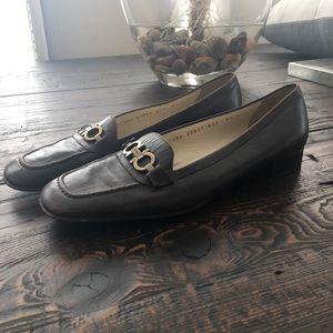 Salvatore Ferragamo Leather Heeled Loafers